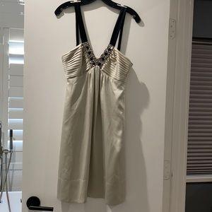 BCBGMaxAzria Silver/Champagne Bead Cocktail Dress